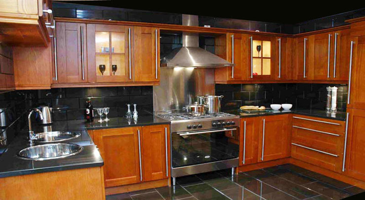 All Kitchens Units In Cherry Oak With Doors For Just £799. All Brand New In  Boxes.